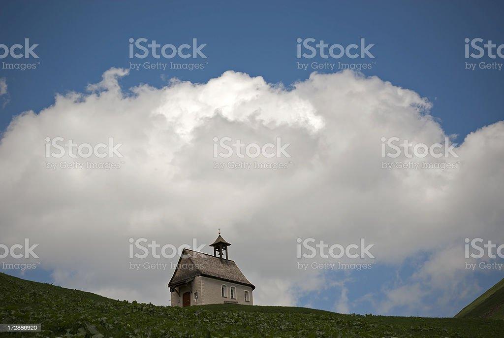 Alpine little Chapel stock photo
