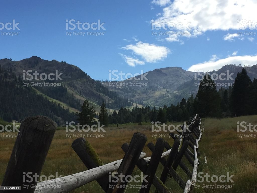 Alpine Meadows, CA stock photo