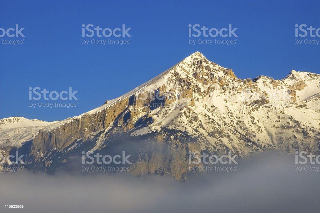 Alpine morning stock photo