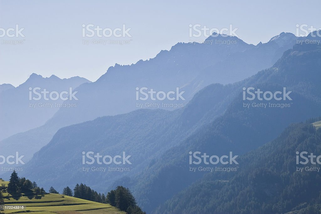 Alpine morning royalty-free stock photo