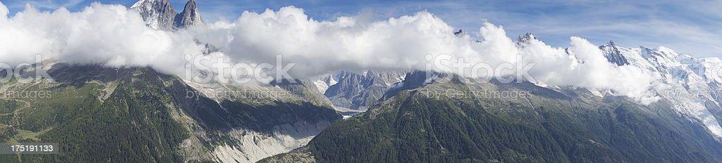 Alpine mountain panoramic view royalty-free stock photo