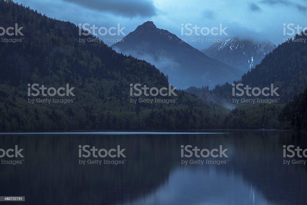 Alpine mountain royalty-free stock photo