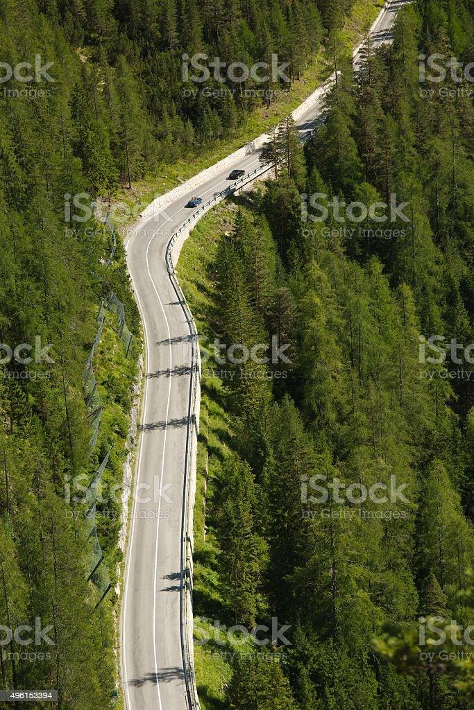 Alpine Mountain Road stock photo
