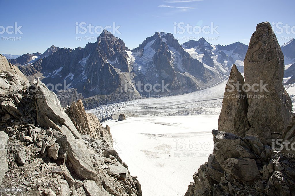 Alpine mountain scenery with glacier royalty-free stock photo