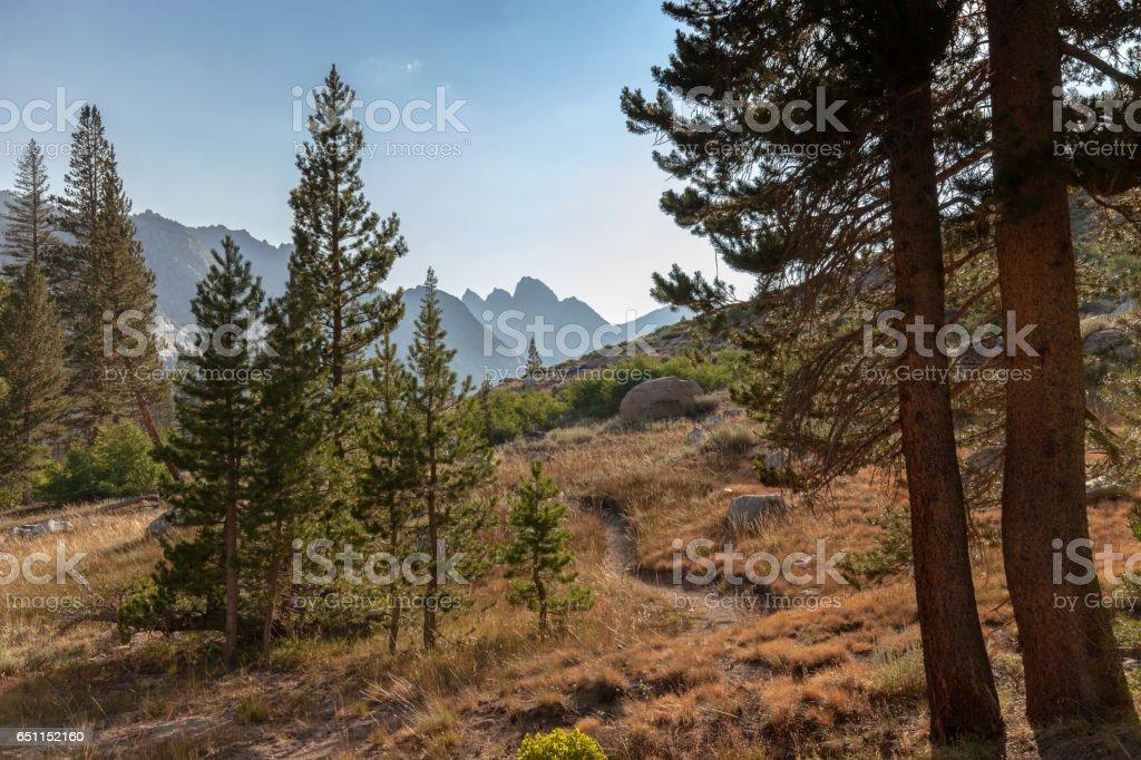 Alpine Mountain Trail stock photo
