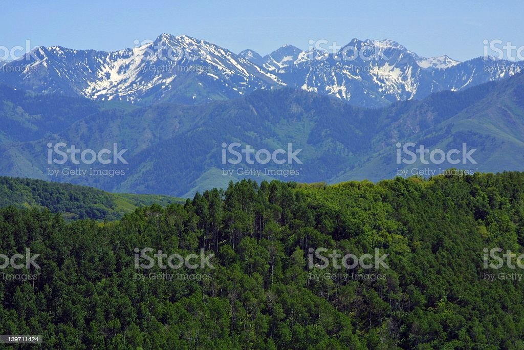 Alpine mountains in spring royalty-free stock photo