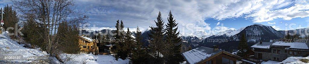 Alpine Panarama - Courchevel France stock photo