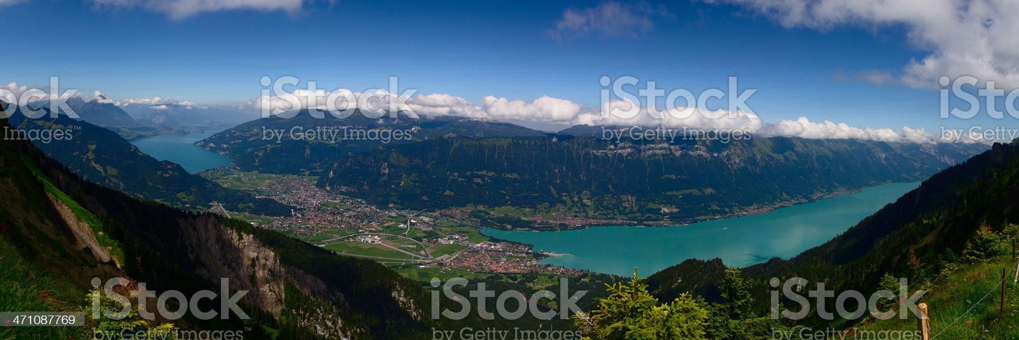 Alpine Panorama: Interlaken royalty-free stock photo