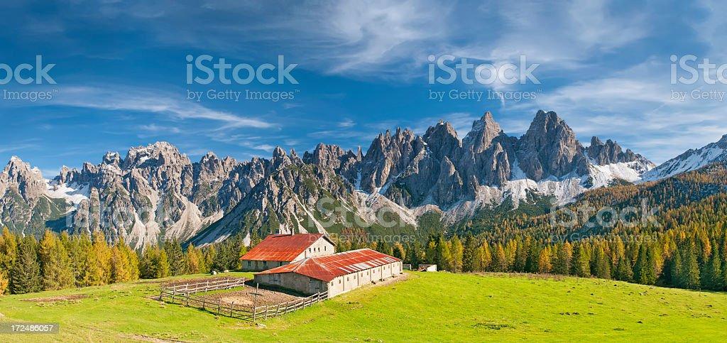 Alpine Panorama stock photo