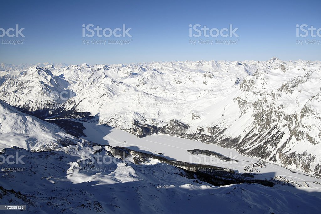 Alpine Panorama royalty-free stock photo