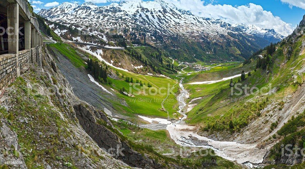 Alpine panorama (Vorarlberg,Austria) stock photo