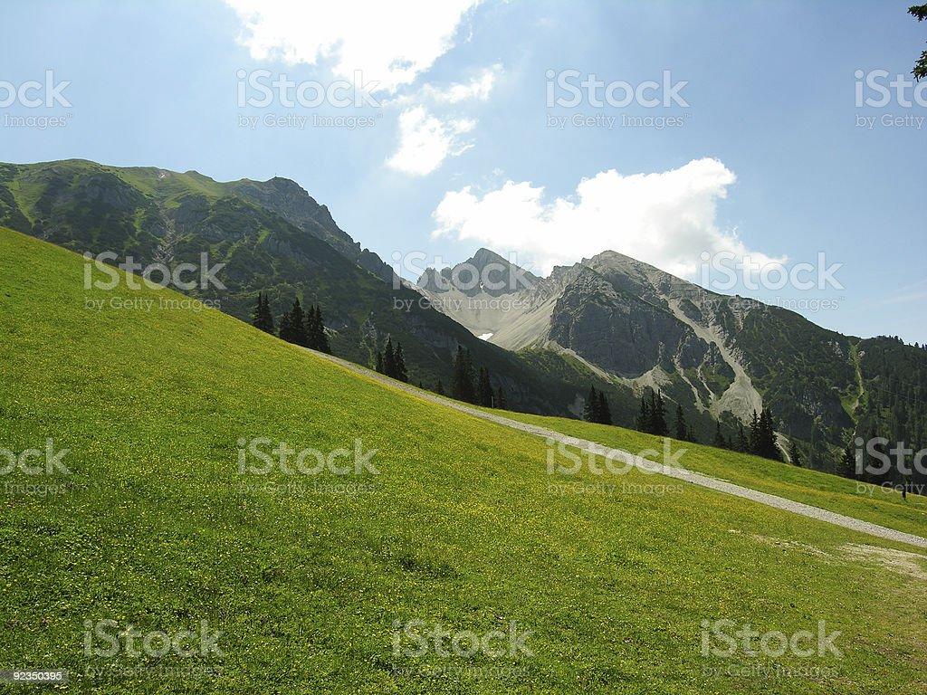 Alpine Panorama View royalty-free stock photo