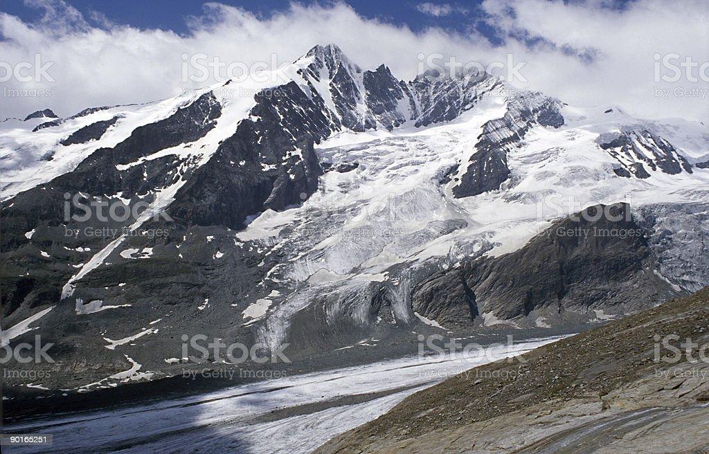 Alpine peak royalty-free stock photo