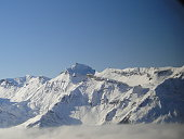 Alpine Peaks Above the Clouds in Mürren, Switzerland