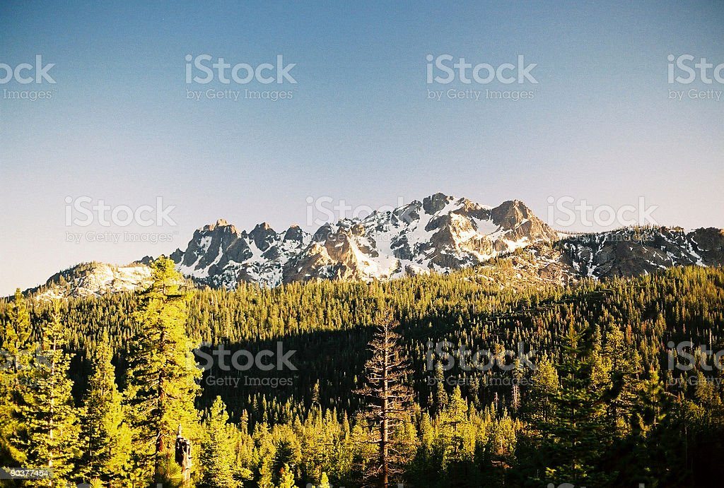 Alpine peaks near lake Tahoe stock photo