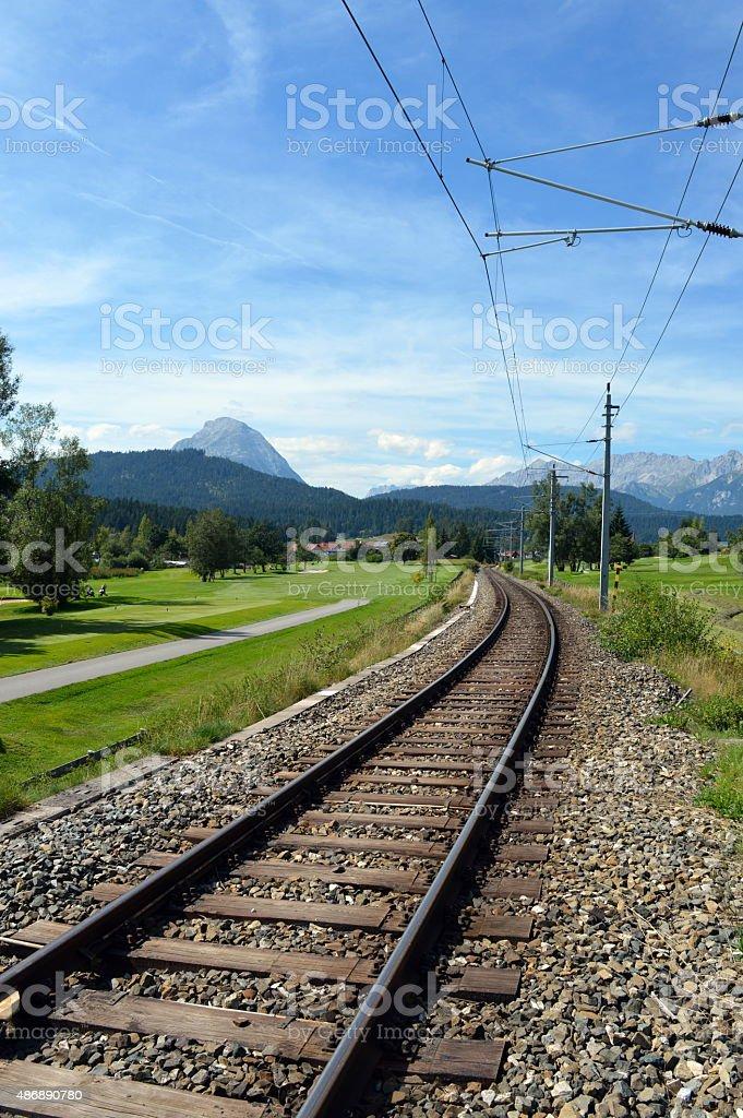 Alpine Railway stock photo