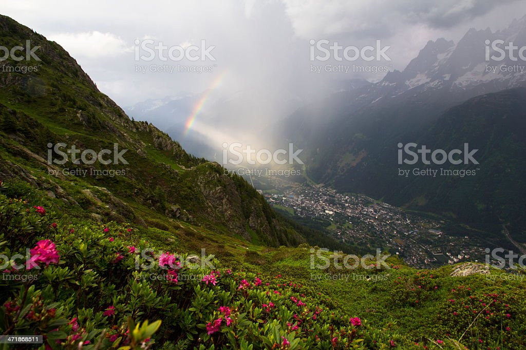 Alpine rainbow royalty-free stock photo