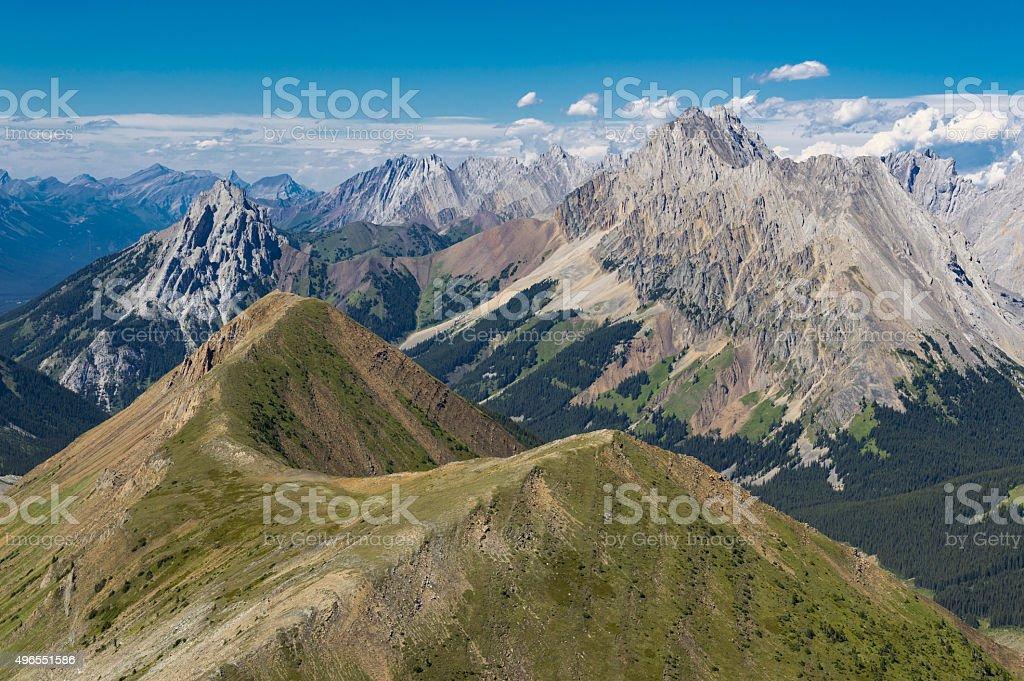 Alpine Ridge in the Rocky Mountains Alberta Canada stock photo