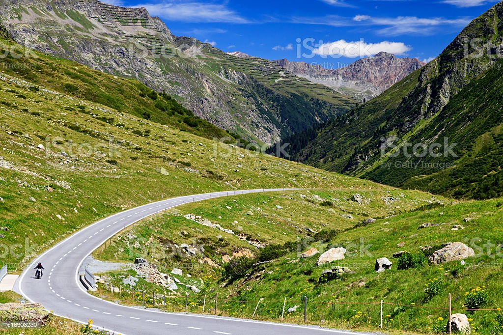 Alpine Road, Austria stock photo