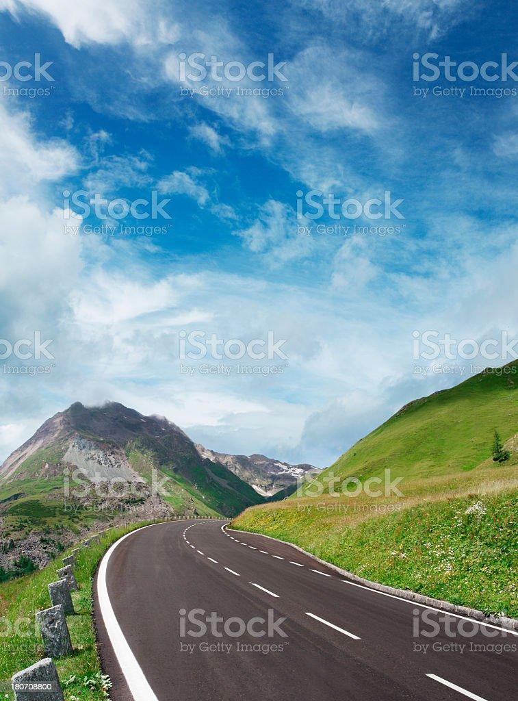 Alpine road stock photo