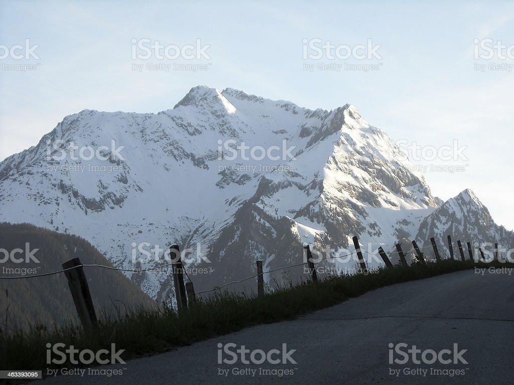 Alpine road foto royalty-free