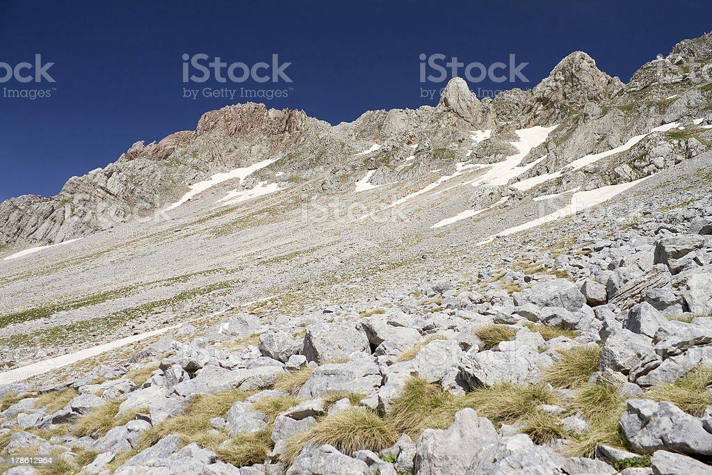 Alpine Rocky Slope royalty-free stock photo