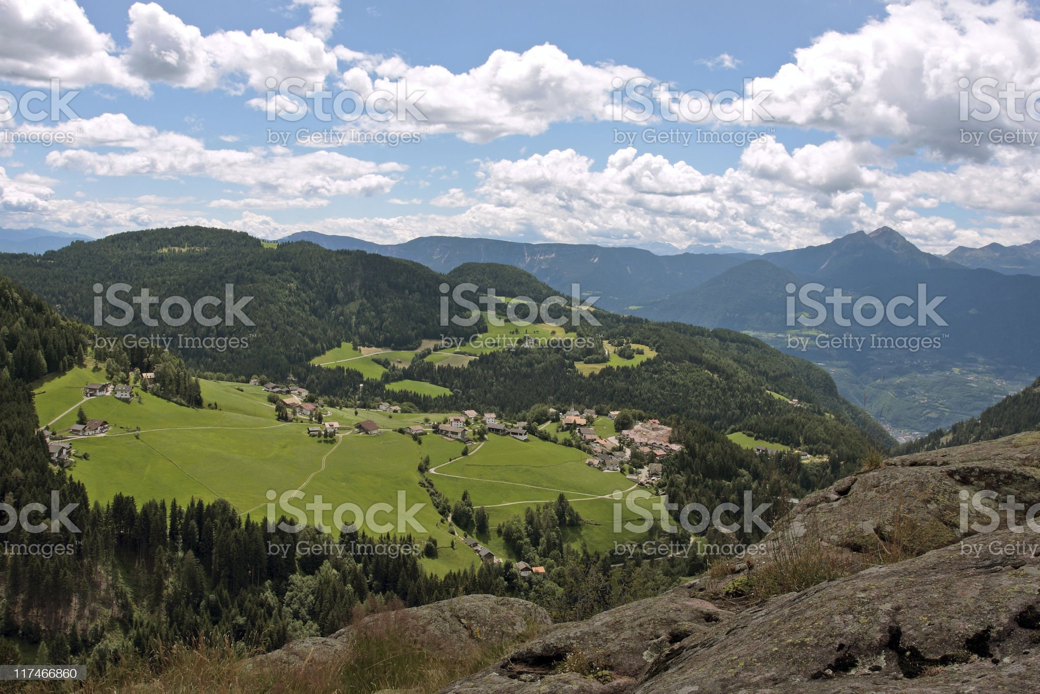 Alpine scene royalty-free stock photo