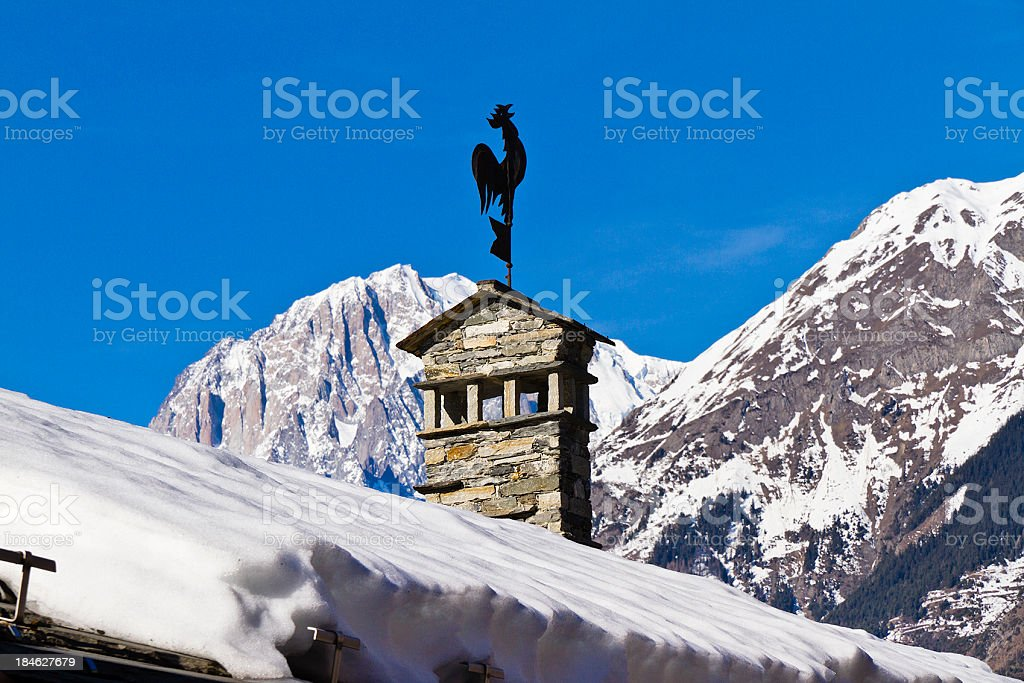 Alpine scene royalty-free stock photo