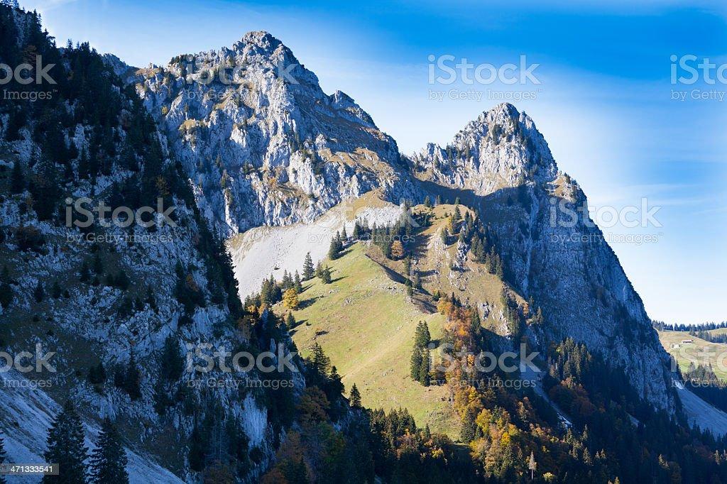 Alpine Scenery, Mythen Massiv, Schwyz Canton, Switzerland stock photo
