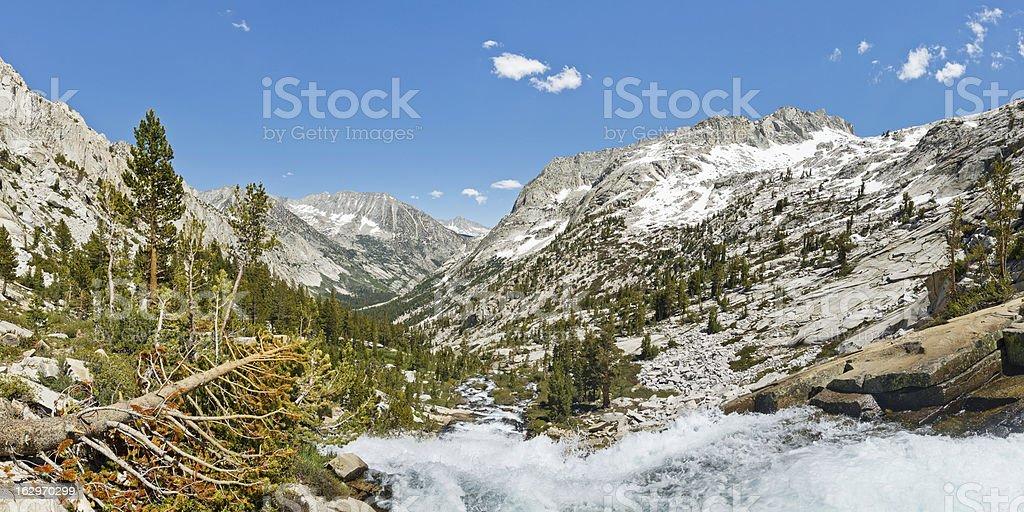 Alpine Scenery Panorama stock photo