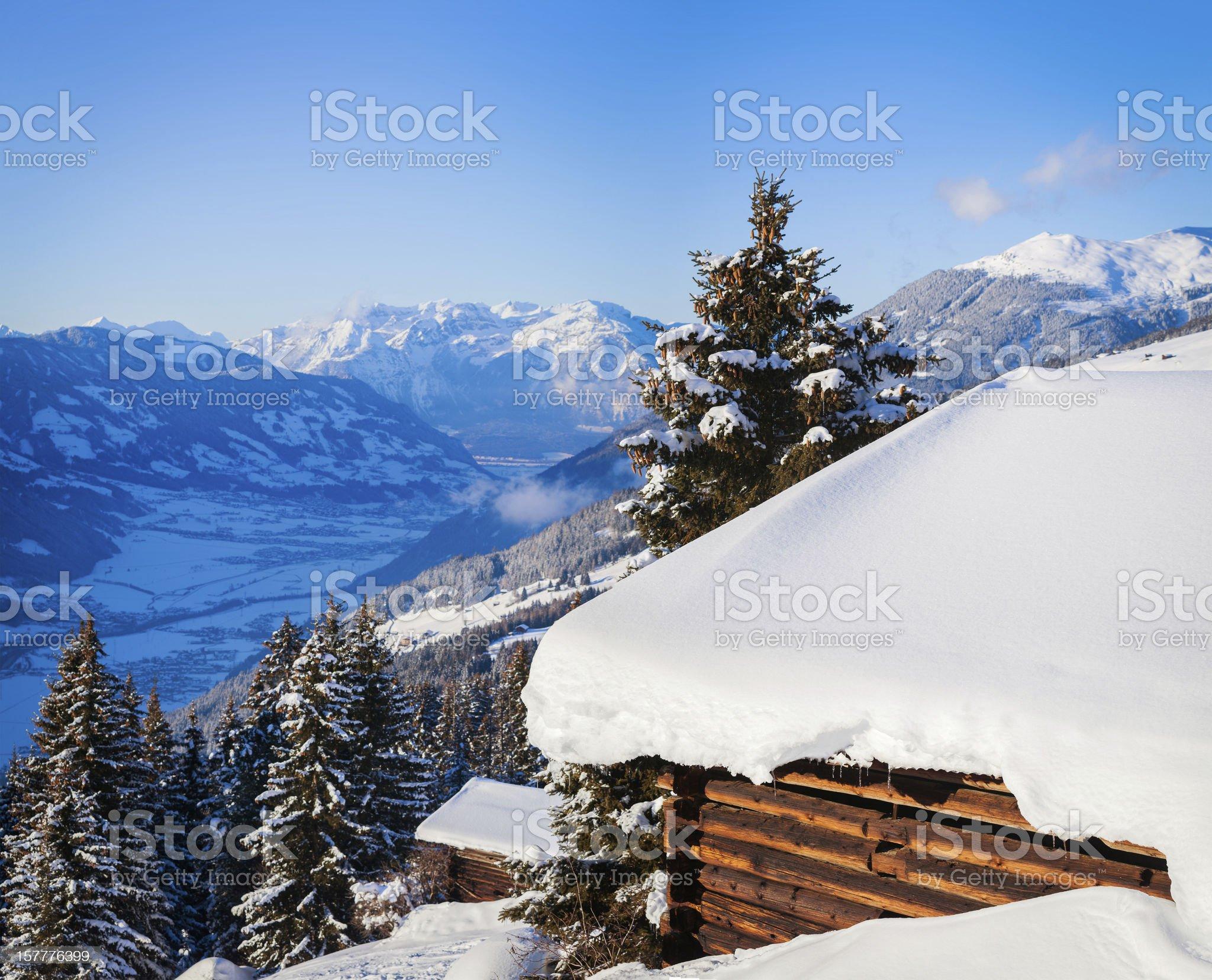 Alpine scenery royalty-free stock photo