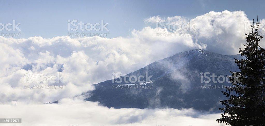 Alpine scenic panoramic royalty-free stock photo