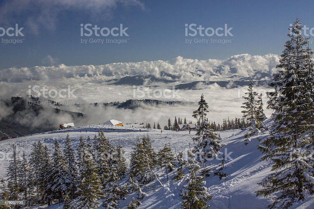 Alpine scenic Ski resort royalty-free stock photo