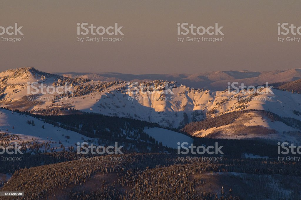 Alpine Scenic Sunset in the Mountains royalty-free stock photo