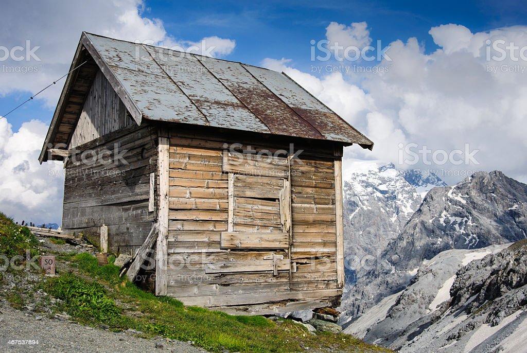 Alpine Shed stock photo