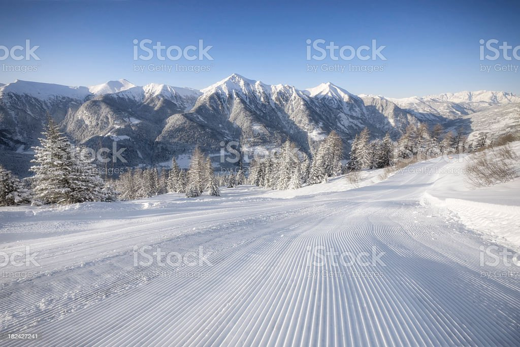 Alpine Ski Area royalty-free stock photo