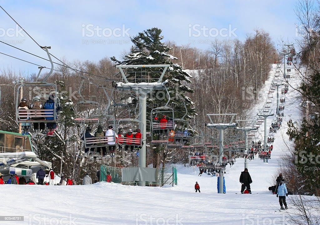 Alpine Ski Chairlift royalty-free stock photo