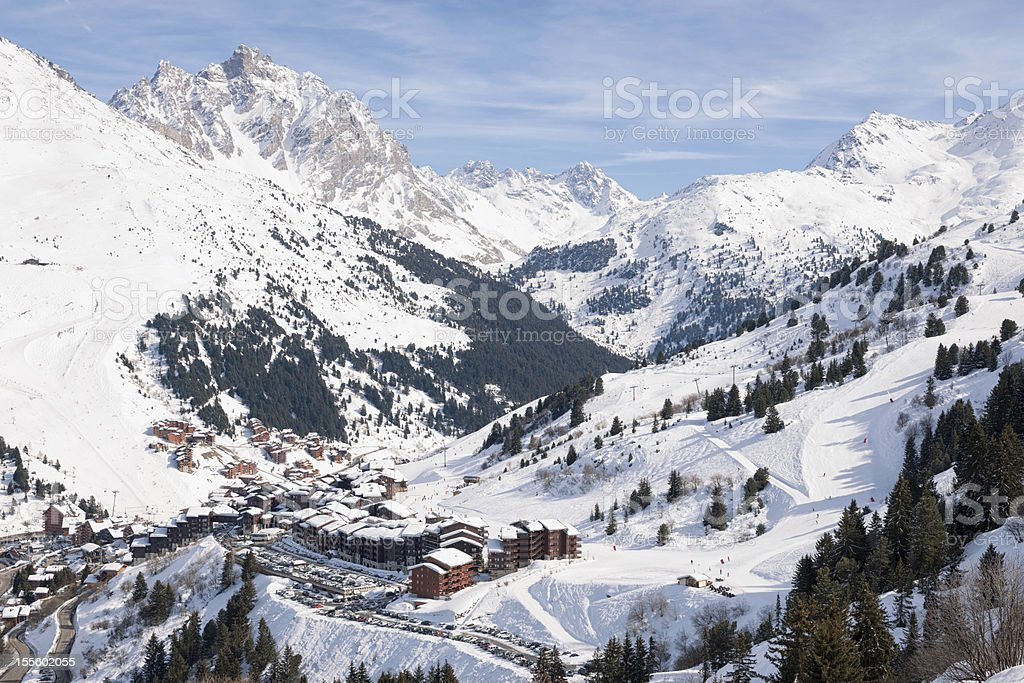 Alpine Ski Resort stock photo