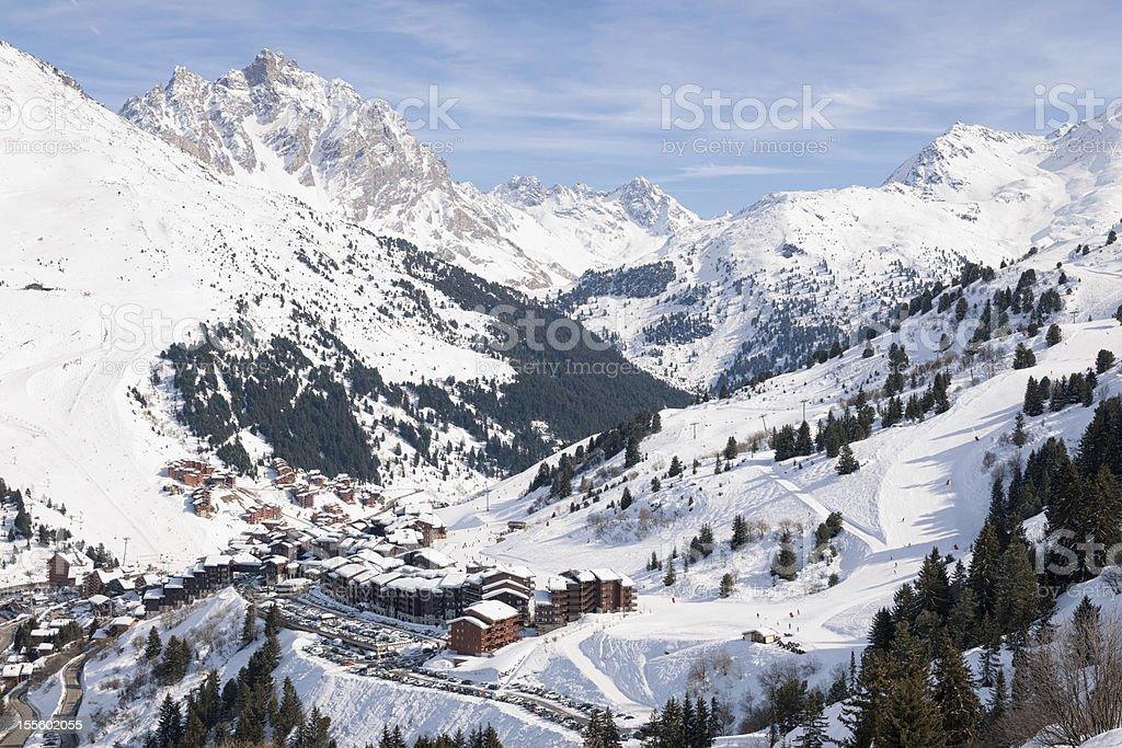 Alpine Ski Resort stock photo