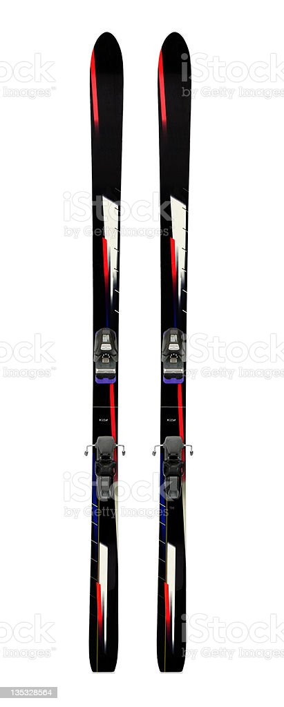 Alpine Skis Vertical royalty-free stock photo