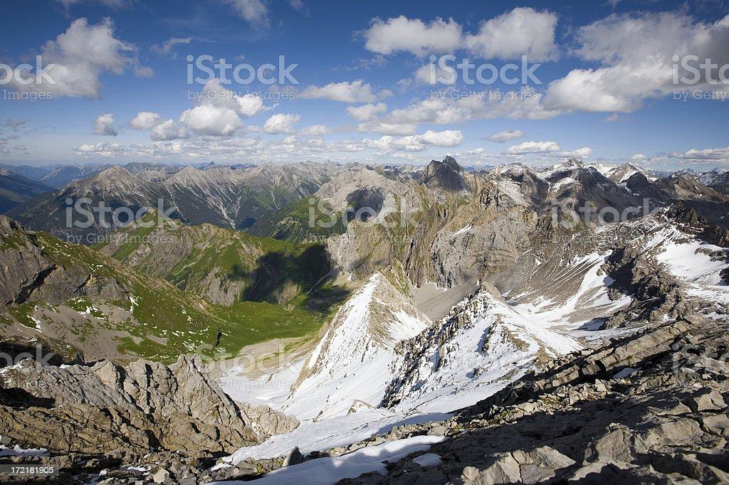 alpine sky royalty-free stock photo