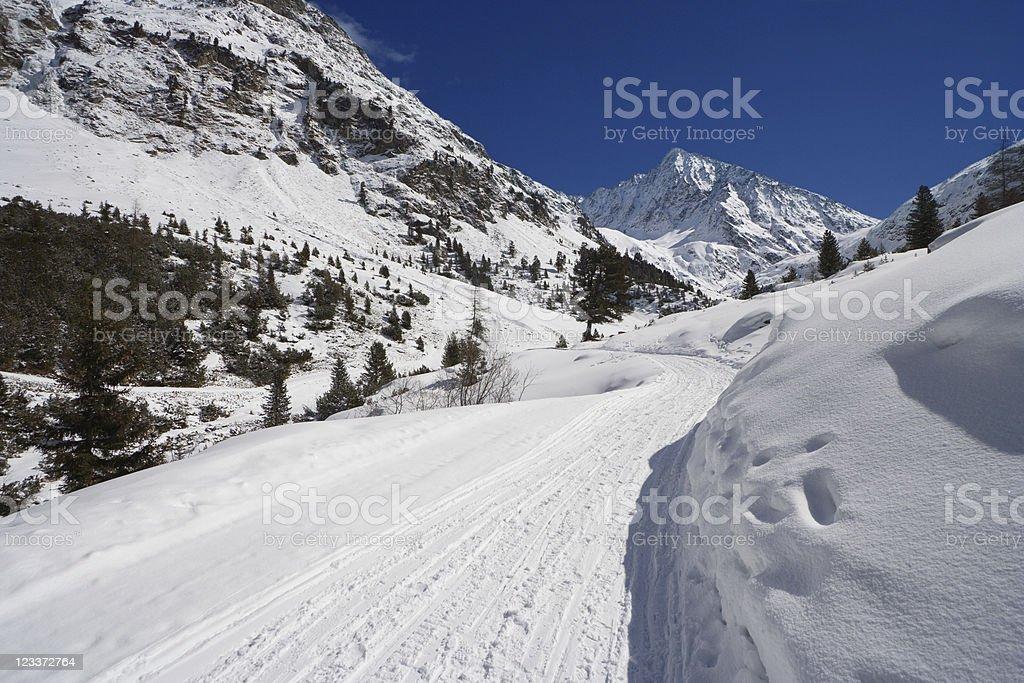 Alpine Snow Landscape stock photo