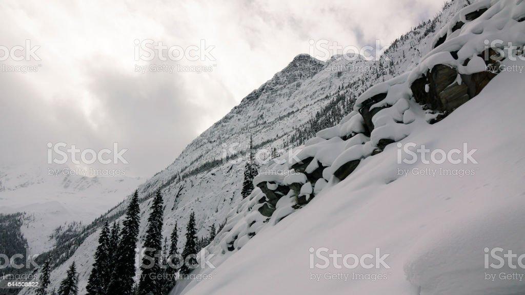 Alpine Snow Pillows stock photo