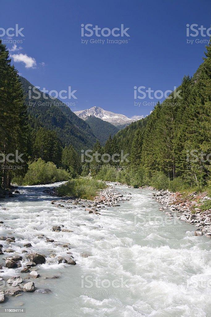 alpine stream royalty-free stock photo