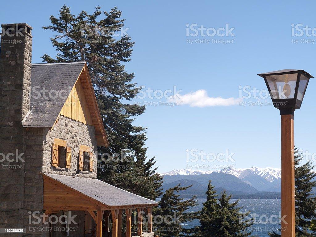 Alpine style stock photo