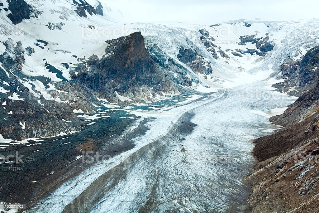 Alpine summer glacier view royalty-free stock photo