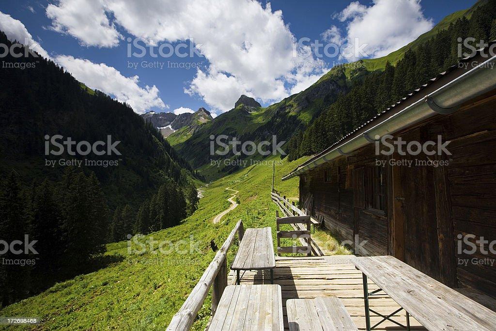 alpine summer hut royalty-free stock photo