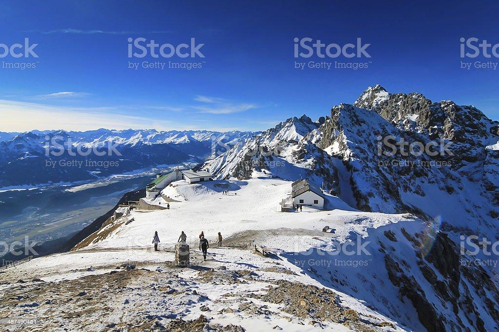 Alpine Summit stock photo