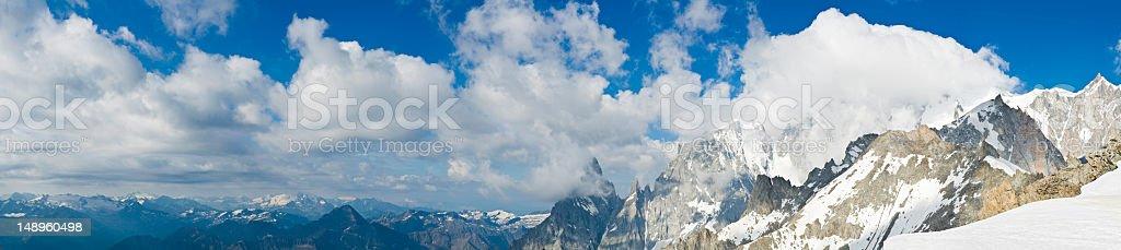 Alpine summits ridges panorama royalty-free stock photo