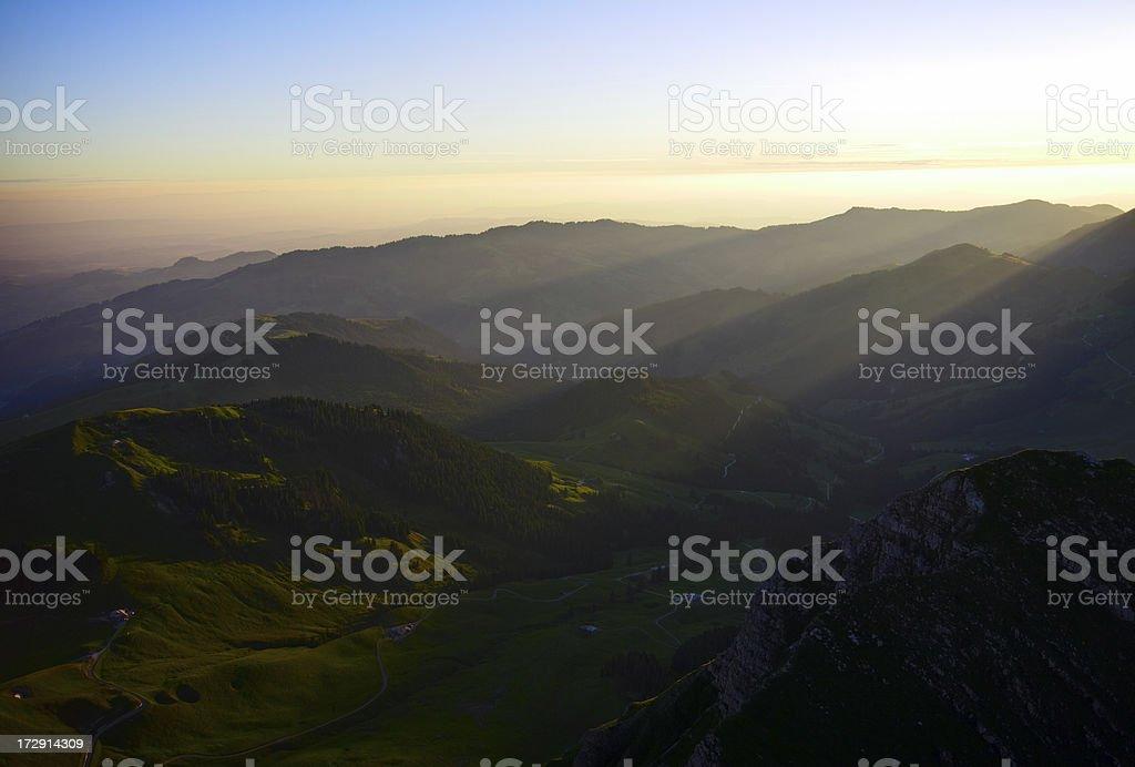 Alpine Sunrise royalty-free stock photo